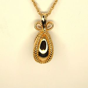 Vintage Joan Rivers Goldtone Faberge Egg 30in